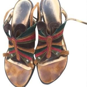 Dolce&Gabbana Bronze Butterfly Sandals